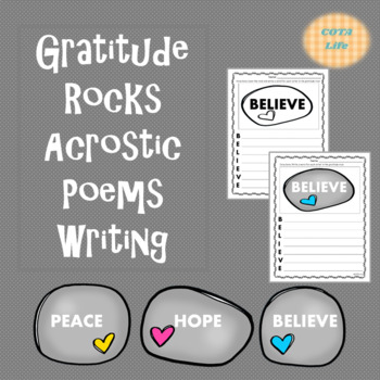 Gratitude Rocks Acrostic Poems Writing