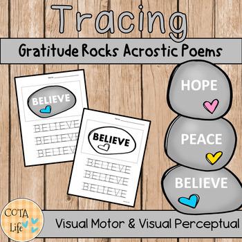 Gratitude Rocks Tracing