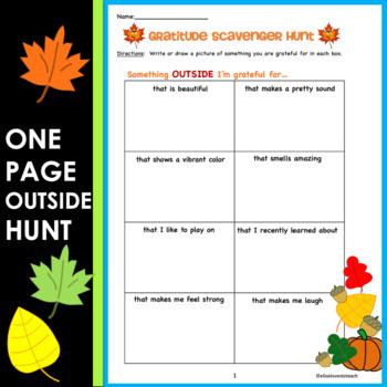 Distance Learning   Gratitude Scavenger Hunt: Practicing Thankfulness