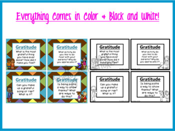 Gratitude Task Cards - Character Education