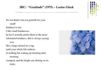 Read/Write about Gratitude: Common Core Grammar/Simile Activity w/Modern Poetry!