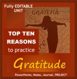 Gratitude Unit: PowerPoint, Interactive Journal, Project & More!