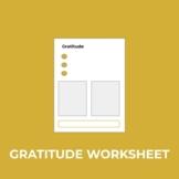 Gratitude Worksheet for Students or Teachers