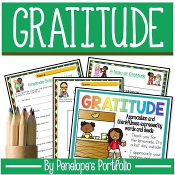 GRATITUDE Character Education Packet