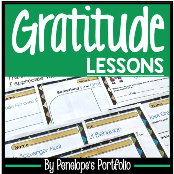 GRATITUDE Activities and Lessons / Thankful Activity - Character Education