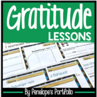 GRATITUDE Character Education Packet