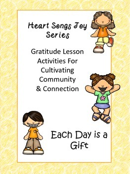 Gratitude in Joy Lesson Series Writing Frame Foldables