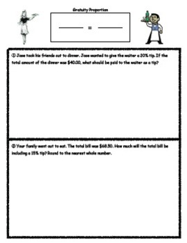 Gratuity/Tip Worksheet (Guided Notes)