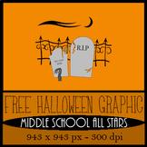 Graveyard Clipart - FREE Halloween Image