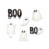 Graveyard Ghosts Clipart | Spooky Halloween Graphics