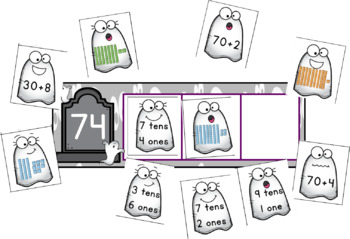 Graveyard Place Value: Tens and Ones