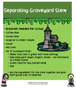 Graveyard Stew: A Separating Mixtures Lab