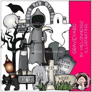 Graveyard clip art - COMBO PACK - by Melonheadz