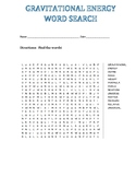 Gravitational Energy Word Search