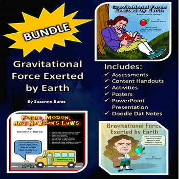 Gravitational Force Exerted by Earth: Activities, Doodle Dat Notes, & PowerPoint