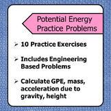 10 Gravitational Potential Energy Calculation Practice Problems