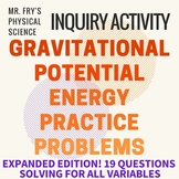 Gravitational Potential Energy - Practice Problems w/ key!