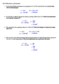 Gravity - Acceleration due to ....