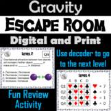Gravity Activity: Physical Science Escape Room Game