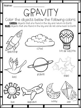 Gravity {Activity} or {Assessment} Freebie For Little Scientists