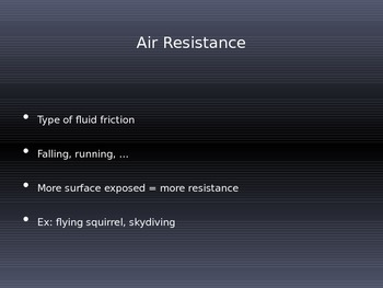 Gravity, Air Resistance, and Projectile Motion PowerPoint