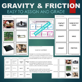 Gravity (Contact Force, Mass, Weight, Friction, etc) Sort & Match Activity