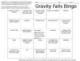 Gravity Falls Literary Bingo