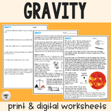 Gravity - Guided Practice - PDF & Digital Versions
