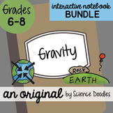 Gravity Interactive Notebook Doodle BUNDLE - Science Notes