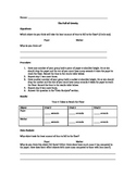 Gravity Laboratory Experiment and Gravitational Force Worksheet