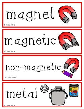 Gravity, Motion, Magnets, Light and Sound Vocabulary