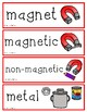 Gravity, Light, Magnets, Motion, Sound Vocabulary Cards