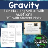 Gravity PPT and Student Note Sheets