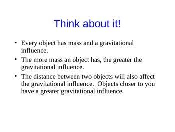 Gravity PowerPoint