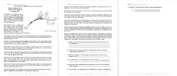 Physics - Gravity: Reading Assignment w worksheet (POWERPOINT)