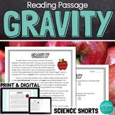Gravity Reading Comprehension Passage