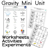 Gravity Mini Unit Worksheets Activities Experiments