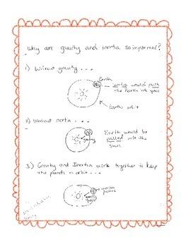 Gravity and Inertia Comic Strip Activity