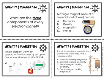 Gravity and Magnetism Task Cards