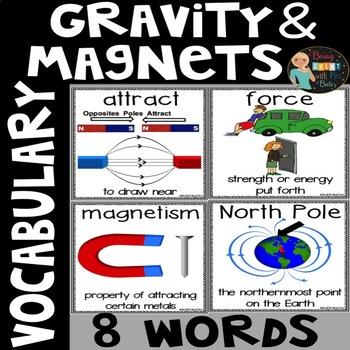 Gravity and Magnets Vocabulary Word Posters