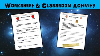 Gravity and Motion Lesson with Worksheet, Power Point, and Classroom Activity