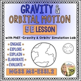 Gravity and Orbital Motion 5E Lesson with PhET Lab