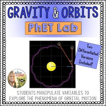 Gravity and Orbits PhET Lab