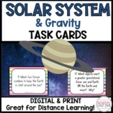 Gravity and Our Solar System Task Cards Distance Learning