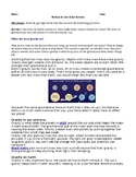 Gravity and Sun, Earth, Moon Systems  (MS-ESS1-2)