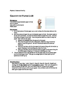 Gravity of Paper Lab - 8th Grade Physical Science