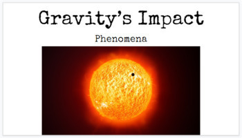 Gravity's Role in the Solar System Phenomena Hook Lesson MS-ESS1-2