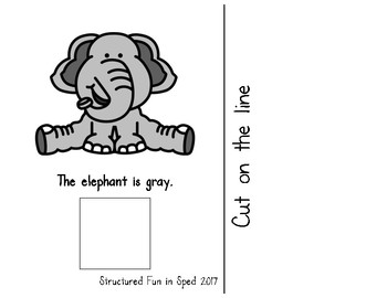 Gray Adapted Book for Preschool, Pre-K and Special Needs