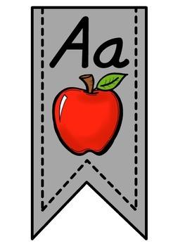 Gray Alphabet Banner