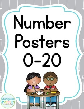 Gray Arrows Number Posters